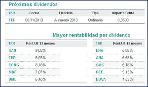 mayor dividendo